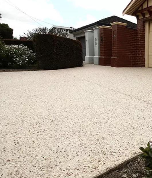 Perth exposed aggregate concrete