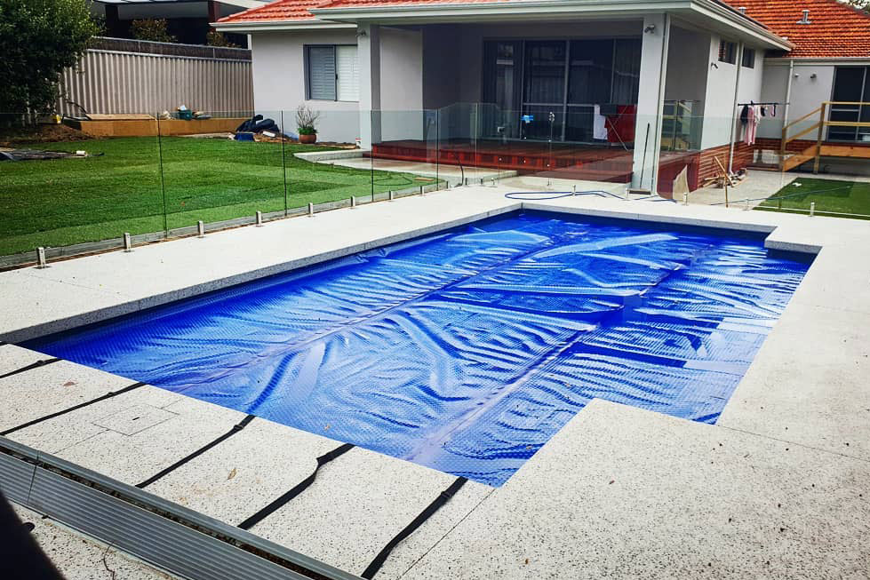 pool recently finished with seamless edge