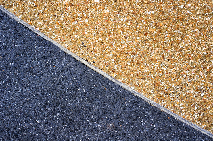 exposed aggregate concrete colour