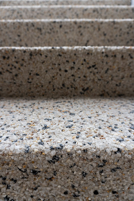 steps finished with exposed aggregate